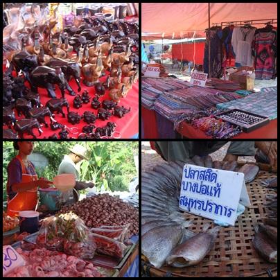 Thai Handy Carft and Bed Silk, Shellfish, Dried Fish