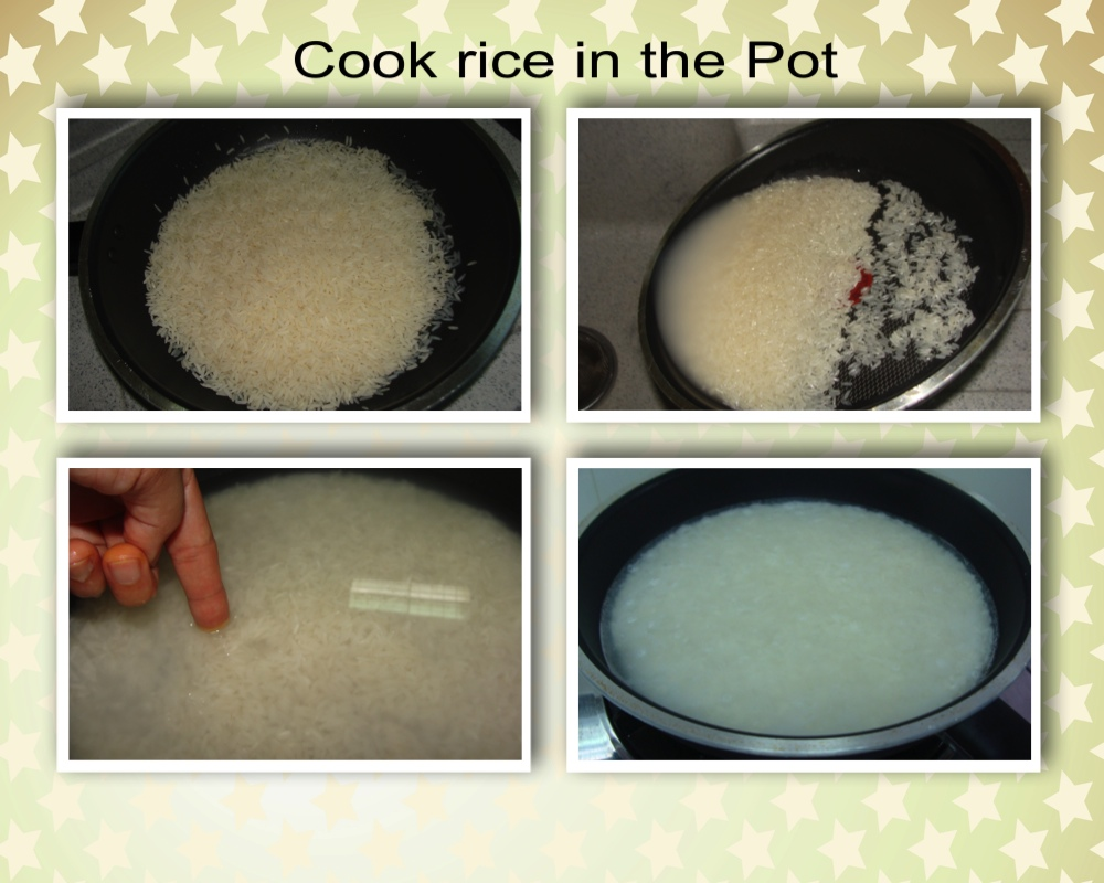 How to cook Rice in the Pot.