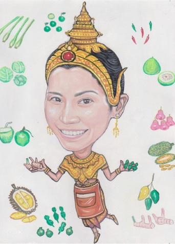 Sally's in Thai Suit w apron